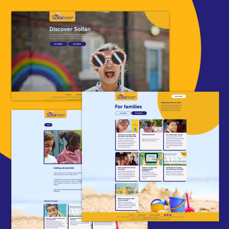 Website for Boots Soltan Sun Ready